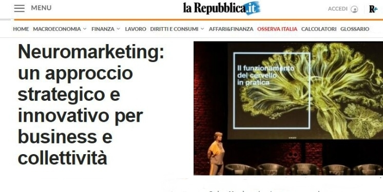 BrainSigns su La Repubblica – Neuromarketing: un approccio strategico e innovativo per business e collettività